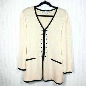 St. John Collection 8 Cardigan Jacket 8 Cream